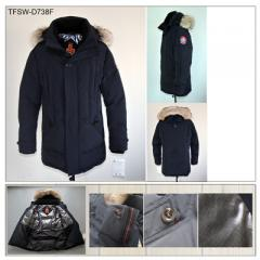 Down Jacket Alaska with Fur Tiger Force Brand