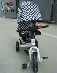 新模型有冠层的孩子三轮车