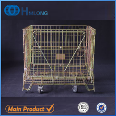 F-1 Hot sale stackable wire foldable steel container
