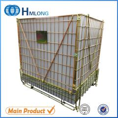 F-22 Folded stackable metal cage storage container