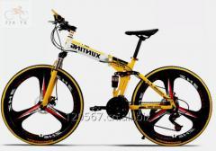 """26""""盘式制动器完整的车轮可折叠MTB自行车"""