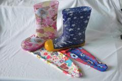 橡胶雨鞋 pvc 雨鞋时尚内里袜