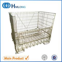 F-16 Warehouse storage wire galvanized metal containers
