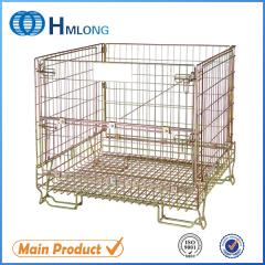 F-5 Industrial stackable steel mesh container for storage