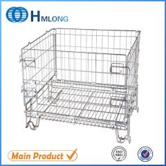 F-19 Foldable galvanized metal security wire mesh storage cage