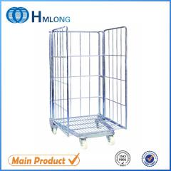BY-08 Warehouse welded nesting roll container trolley