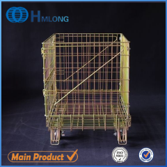 F-1 Warehouse collapsible storage mesh wire cage
