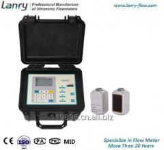 Transit-time portable ultrasonic flow meter energy