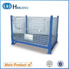 BEM Heavy duty warehouse wire mesh pallet storage cage for auto parts