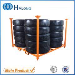 HML6060 Warehouse foldable storage steel tire rack