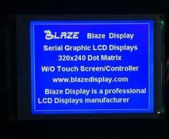 320X240_Graphic_LCD_Module_Blue - Blaze display