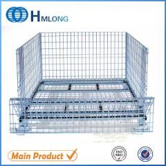 W-1 Industrial wire metal storage folding container