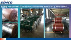Pre-painted hot-dipped galvalume steel coil/sheet