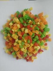 Сушеные кубики папайи
