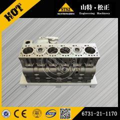 In stock PC200-7 Cylinder block 6731-21-1170 Komatsu excavator spare parts