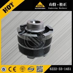 High quality in our stock for PC300-7 crank pulley 6222-33-1451 Komatsu spare parts
