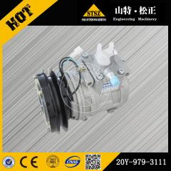 In our stock for D85A-21 air compressor 20Y-979-3111 Komatsu bulldozer spare parts