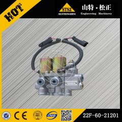 In our stock for PC55MR-2 solenoid valve 22F60-21201 Komatsu excavator spare parts