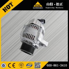 In our stock for PC200-7 alternator 600-861-3410 Komatsu excavator spare parts