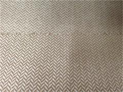 Polyester herringbone cationic suede fabric