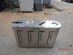 Outdoor Stainless Steel Separation Recycling Bin