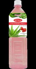 1.5L 草莓口味芦荟果粒饮料