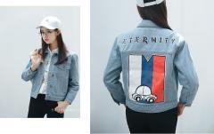 Men Denim Shirts 3D Slim Fit Jacket Washed Point Collar Jeans Shirt