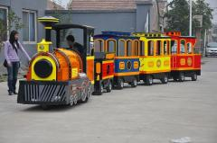 Electric trackless train for shopping mall