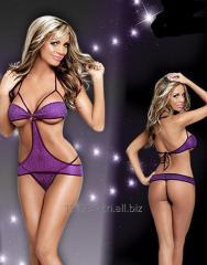 Violet sexy halter purple teddy lingerie