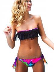 Sexy Hot Women Strapless Fringe Bikini Set