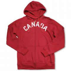 Mens Red Cotton Mix Zip-up Hoody (SS 0253)
