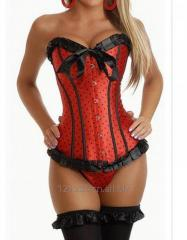 Sexy Red Corset Overbust Bustiers