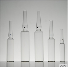 Indian standard, YBB and GMP and ISO standard USP type1 OPC with blue point type B 10ml clear glass ampoule