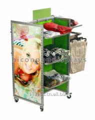 Merchandising Retail Gondola Shelving Metal Storage Clothing Store