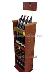 Retail Wood Wine Display Stands Merchandising