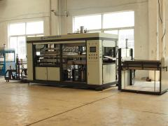 Automatic high speed thermoforming machine