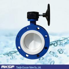 Flange type Ductile iron soft seat butterfly valve in Tianjin Manufacture