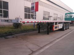 Sino truck 3 axles flatbed container semi trailer