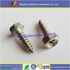 Stainless Steel Phillips Indented Hex Washer Head Self Tapping Screws