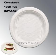 新玉米淀粉材料的环保的中国制造的8英寸一次性餐盘