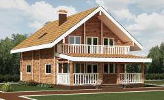Luxury wooden log house