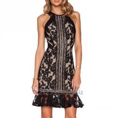 Womens Fancy Prom Dress Lace Sleeveless Party Evening Wear