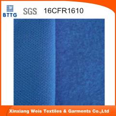 Fire proof knitted fleece fabric