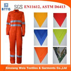 Flame retardant cotton FR coverall for oil and gas