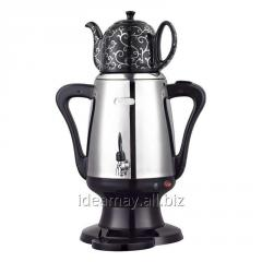 Ideamay Stainless Steel Body Electric 3L Russia Samovar with 1L Ceramic Kettle