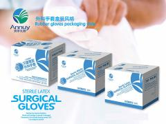 Medical latex surgical gloves