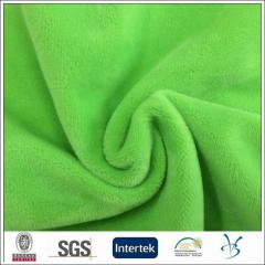100 polyester microfiber soft velvet fabric for
