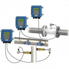 Wall mounted ultrasonic flow meter