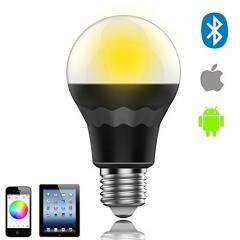 中国led灯泡7.5W RGBW蓝牙智能LED灯泡多色灯E27照明