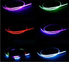 60cm RGB Car LED trunk light strip light with 5 modes moving tail gate lighting